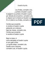 Letra Canciones Cuecas