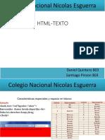 Colegio Nacional Nicolas Esguerra HTML