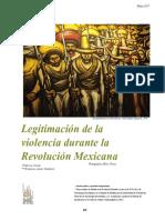 Legitimación de la violencia durante la Revolución Mexicana