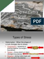 Deformation of Crust