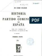 Comín Colomer. Historia del Partido Comunista de España. Etapa I. Parte 2