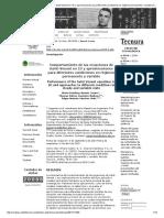 Comportamiento de Las Ecuaciones de Saint-Venant en 1D y Aproximaciones Para Diferentes Condiciones en Régimen Permanente y Variable _ Amarís Castro _ Tecnura