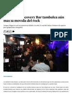 Cierre de Discovery Bar tambalea aún más la movida del rock