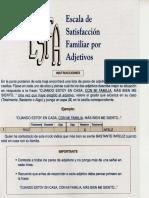Escala de Satisfacción Familiar por Adjetivos (ESFA)