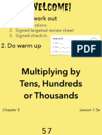 1.5a Multiplying by Tens, Hundreds or Thousands