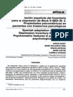 2005-BDI-II en Pacientes Clinica y SAlud
