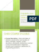 Probability and Statistics Course Syllabus
