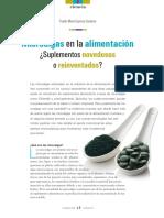 Lectura 01 MicroAlgas en La Alimentacion Suplementos Novedosos o Reinventados
