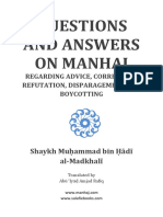 Questions and Answers on Manhaj