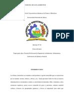 Determinación de Características Químicas de Frutas y Hortalizas