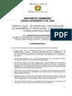 Decreto Nucleos Desarrollo Provincial