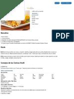 Enrollados de Jamón y Huevo Receta - Comida Kraft