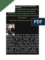 Auditoria Interna vs Auditoria Externa