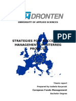 Strategies for Successful Management of INTERREG Projects