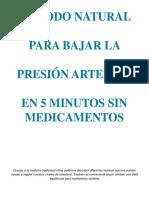 Método Natural Para Bajar La Presión Arterial en 5 Minutos Sin Medicamentos