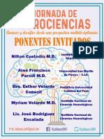 PONENTES DEL EVENTO DE NEUROCIENCIAS