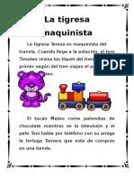 """Cuentos Con Fonemas La Letra """"T"""" La Tigresa Maquinista"""