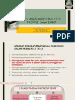 Kebijakan Akreditasi Fktp Provinsi Jabar Untuk Pelatihan