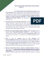 Procedura de Transmitere Documente Pentru Credite Profesori