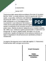 Schumpeter Teoria Dello Sviluppo