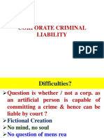 Corporate Criminal Liability