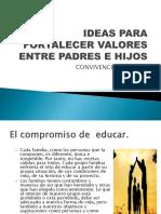 IDEAS PARA FORTALECER VALORES ENTRE PADRES E HIJOS.pptx