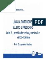 Portugues4 - Sujeito e Predicado - Aula2