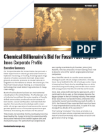 Chemical Billionaire's Bid for Fossil Fuel Empire