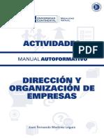 MANUAL de ACTIVIDADES Direccion y Organizacion de Empresas ACT ED1 V1 2016 (1)