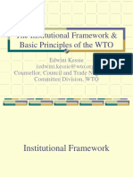 Basic Principles and Institutional Framework