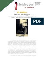 Heidegger - El Habla