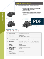 P Series Hydraulic Pumps Pressure Compensating Type