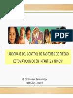 Control Factores de Riesgo en Infantes  Niños