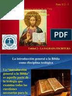 Unidad 2 - Parte 1 - La Sagrada Escritura