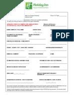 FNRH Ficha Nacional de Registro de Hospedes