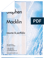 Stephen Macklin Design Portfolio