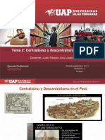 2. Centralismo y Descentralismo en El Peru