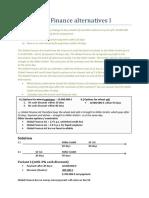 Example 1 - Finance Alternatives I
