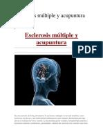 Esclerosis Múltiple y Acupuntura
