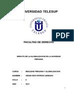 Impacto de La Globalizacion en El Peru