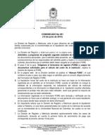 Comunicado_001 de 2015
