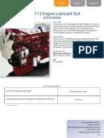 Mack T13 Engine Lubricant Test