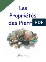 Manuel Des Propriétés Des Pierres