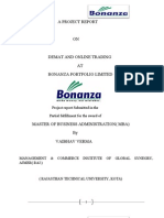 Vaibhav Project Report on Bonanza Portfolio