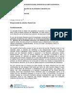 Programa de Estudio Módulo Aportes de Los Estudios Literarios Alfa