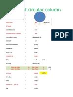 Circular Column Design Excel Sheet