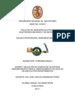 DISEÑO Y SELECCIÓN DE EQUIPOS DE UN SISTEMA HIDRONEUMATICO PARA EL ABASTECIMIENTO DE AGUA DE UN EDIFICIO POR DEPARTAMENTOS