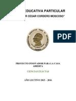 Modelo Proyecto Casa Abierta 2015 - 2016