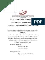 Formato Informe Final Proyecto Extensión Cultural, Jorge
