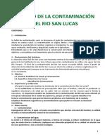 B.- Contaminacion Del Rio San Lucas